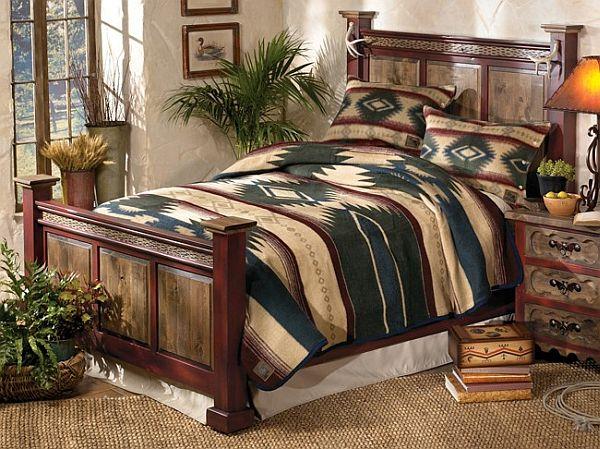 Ольховая двуспальная кровать
