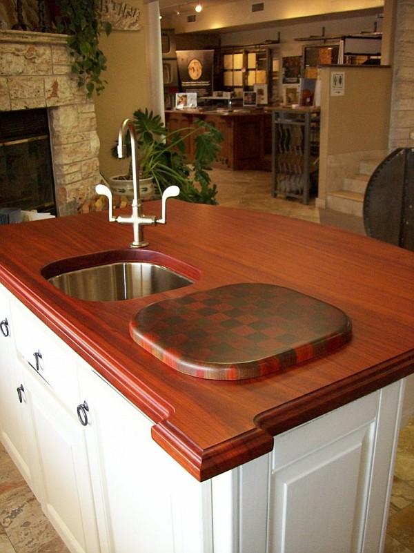 Кухонная столешница из падаука