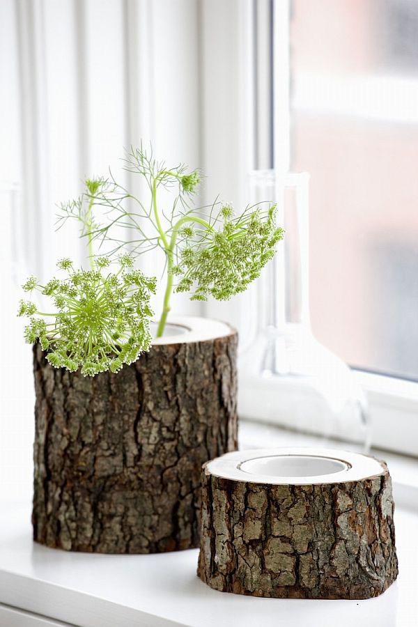 Дерево в цветочном горшке
