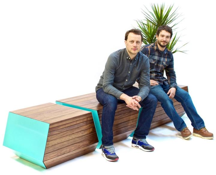 Деревянная скамья с цветочным горшком Boxcar от Revolution Design House