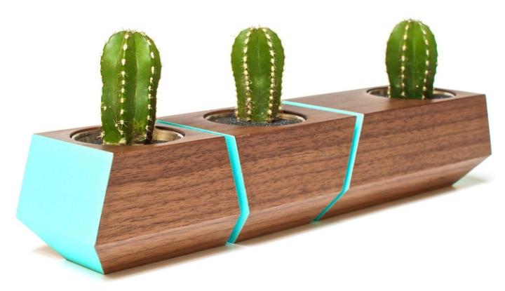 Удивительная деревянная скамья с цветочными горшками Boxcar от Revolution Design House