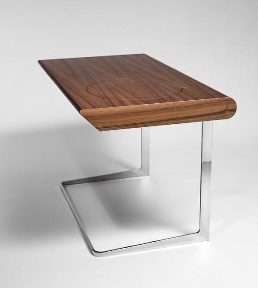 Бесподобный деревянный столик с зеркалом