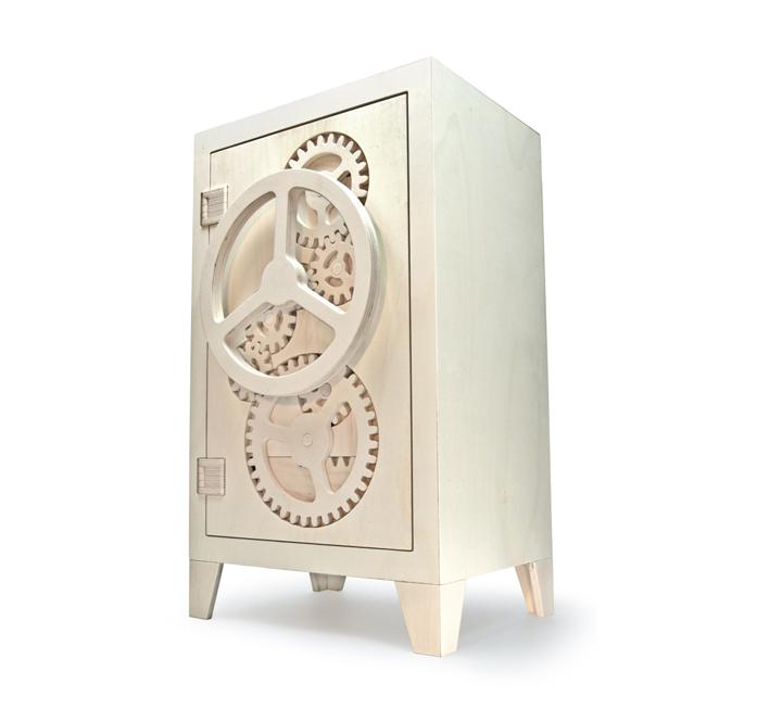 Дизайнерский деревянный сейф