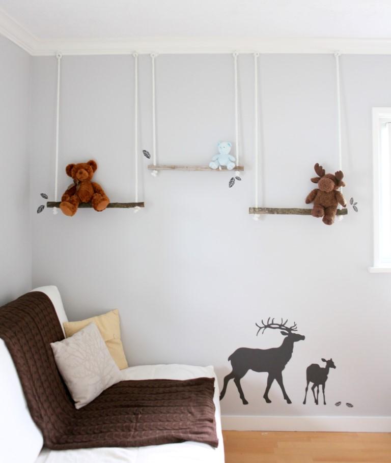 Полки на стену своими руками фото из дерева