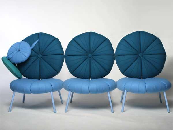 Кресла в голубых тонах