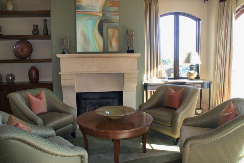 Красивое оформление гостиной зоны в стиле модерн