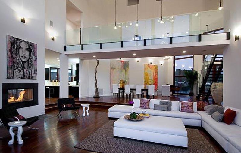 Красивый интерьер гостиной зоны