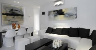 Чудесный интерьер помещения в стиле модерн