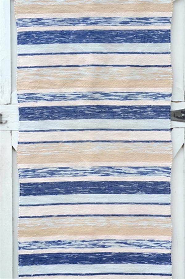 Верёвочный коврик в синюю полоску