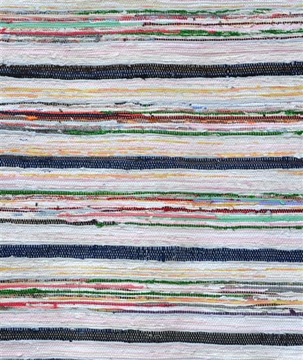 Верёвочный коврик в разноцветную полоску