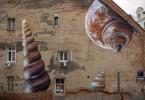 «Ксенофора» – фреска от от хорватского уличного художника Лонаца