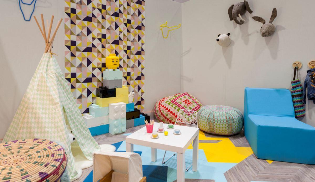 Дизайн пуфов - пуф в детской комнате