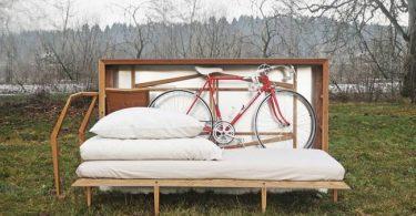 Ящик для путешествий со складной мебелью и местом для велосипеда