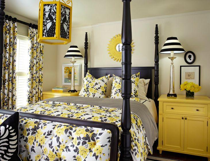 Узоры на постельном белье в спальне
