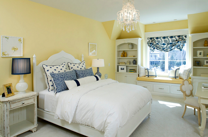 Нежный окрас спальни