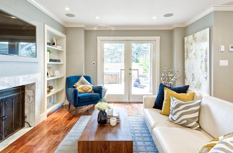 Современный дизайн гостинной комнаты