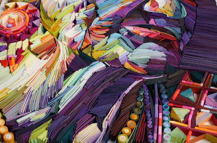 Юлия Бродская: уникальная портретная галерея из гофрированной бумаги