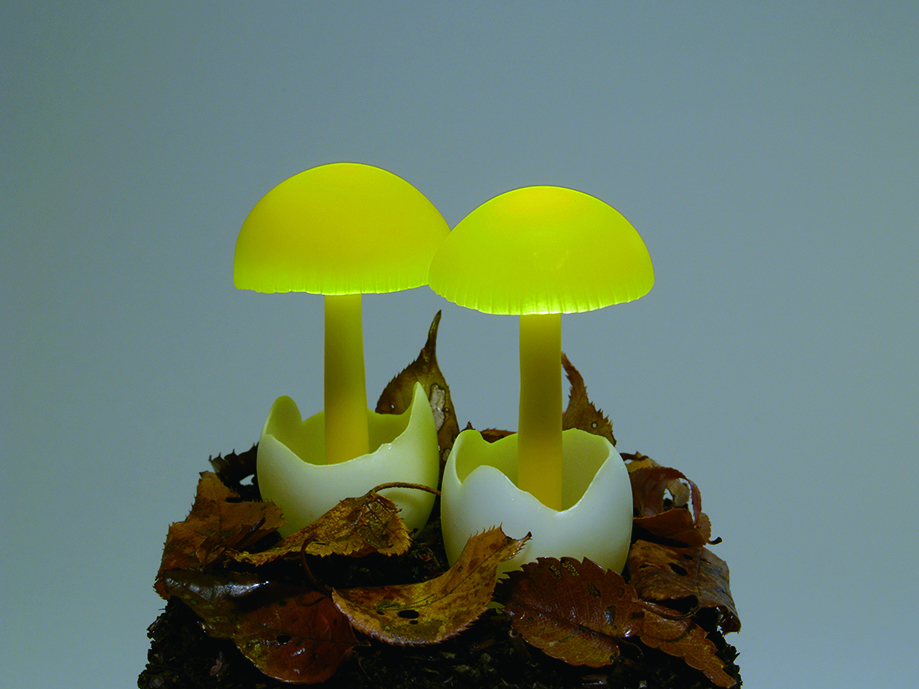 Original lamps in the form of mushrooms from Yukio Takano