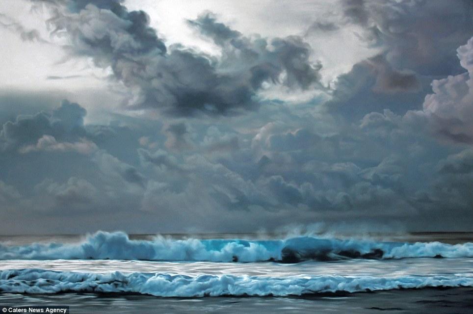 Пастелните морски пейзажи Dawn Форман