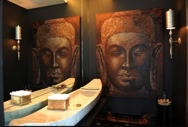 Буддистский дизайн интерьера комнаты