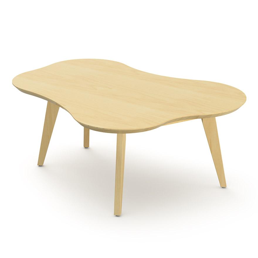 Необычный журнальный столик с современным дизайном, фото столика Risom Amoeba